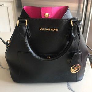 Michael Kors convertible bucket crossbody purse